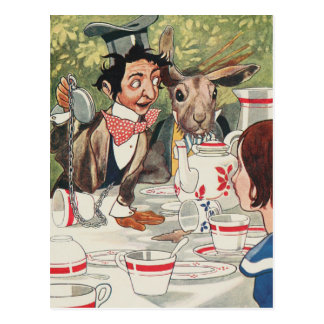 Vintage Alice and Wonderland Postcard