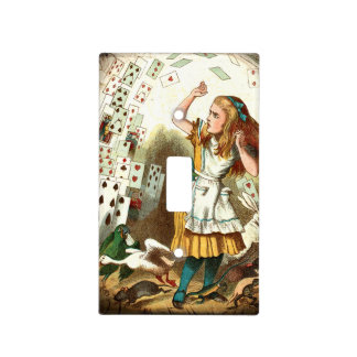 Vintage Alice Attacked By Cards Light Switch Cover