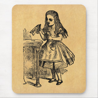 Vintage Alice Drink Me Mouse Pad