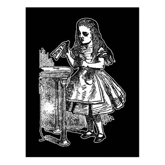 Vintage Alice Drink Me Postcard