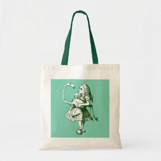 Vintage Alice & Flamingo in Wonderland Tote Bag