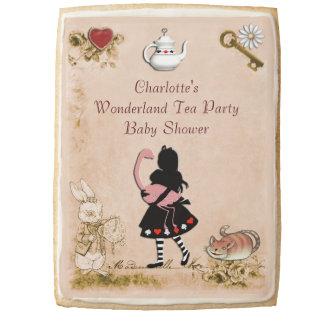 Vintage Alice & Flamingo Wonderland Baby Shower Jumbo Cookie