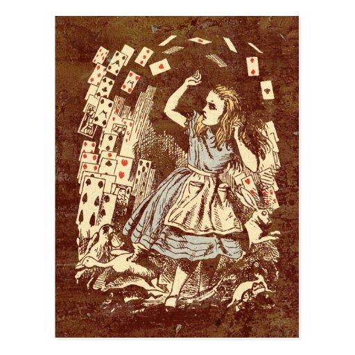 Vintage Alice Flying Cards Post Cards