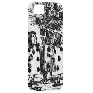 Vintage Alice in Wonderalnd Cards Painting Roses iPhone 5 Cases