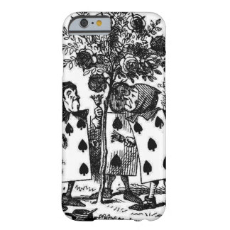 Vintage Alice in Wonderalnd Cards Painting Roses Barely There iPhone 6 Case