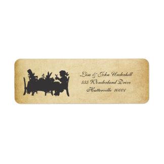 Vintage Alice in Wonderland Address Labels