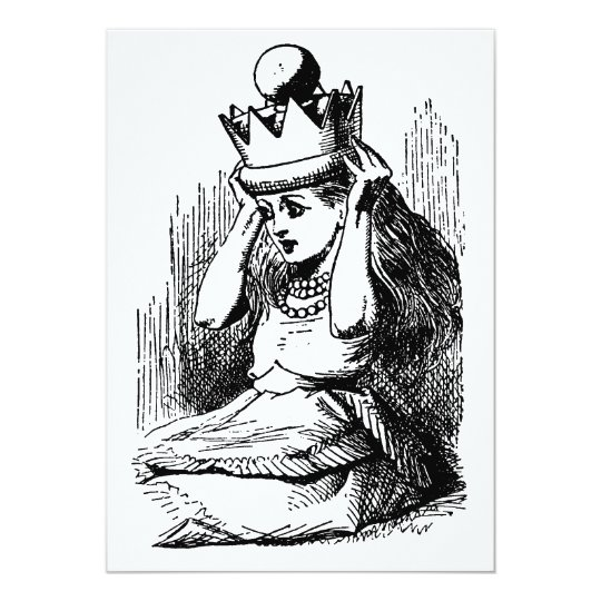 Vintage Alice in Wonderland, Alice as the Queen Card