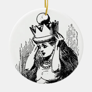 Vintage Alice in Wonderland, Alice as the Queen Ceramic Ornament