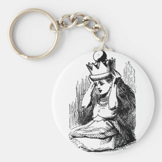 Vintage Alice in Wonderland; Alice as the Queen Key Chains