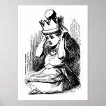 Vintage Alice in Wonderland; Alice as the Queen Print