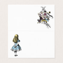 Vintage Alice in Wonderland and the White Rabbit Place Card