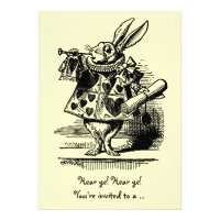Vintage Alice in Wonderland Baby Shower Invitation