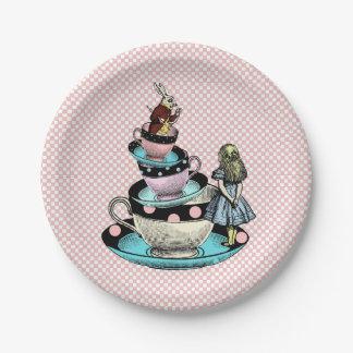 Vintage Alice in Wonderland Baby Shower Paper Plate