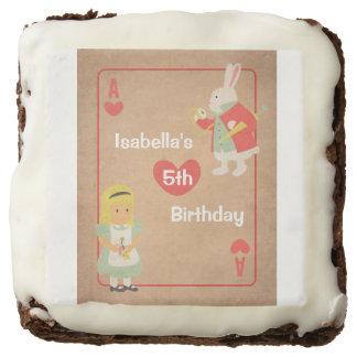 Vintage Alice in Wonderland Birthday Party Brownie