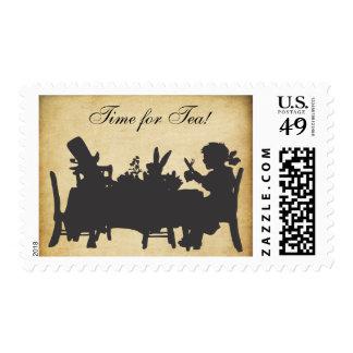 Vintage Alice in Wonderland Birthday Party Stamp
