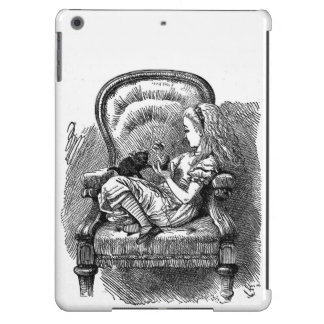 Vintage Alice in Wonderland book drawing emo goth Case For iPad Air