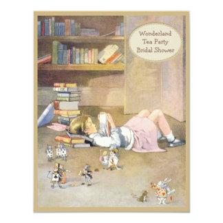 Vintage Alice in Wonderland Bridal Shower 4.25x5.5 Paper Invitation Card