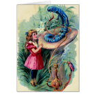 Vintage Alice In Wonderland Card