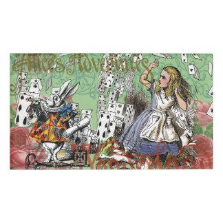 Vintage Alice in Wonderland Cards Tea party Name Tag