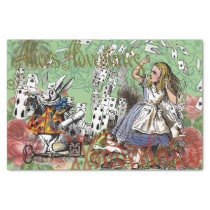 Vintage Alice in Wonderland Cards Tea party Tissue Paper