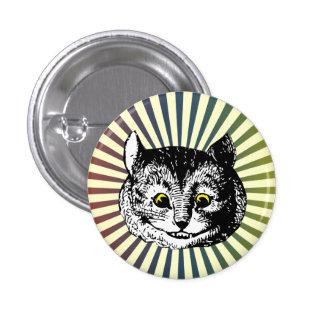 Vintage Alice in Wonderland Cheshire Cat Art Badge Pinback Button