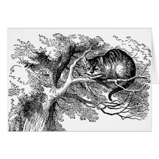 Vintage Alice in Wonderland, Cheshire Cat Card