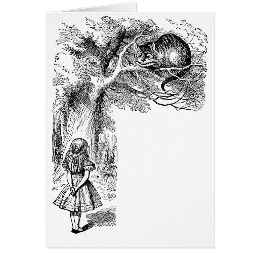Vintage Alice in Wonderland, Cheshire Cat Greeting Card