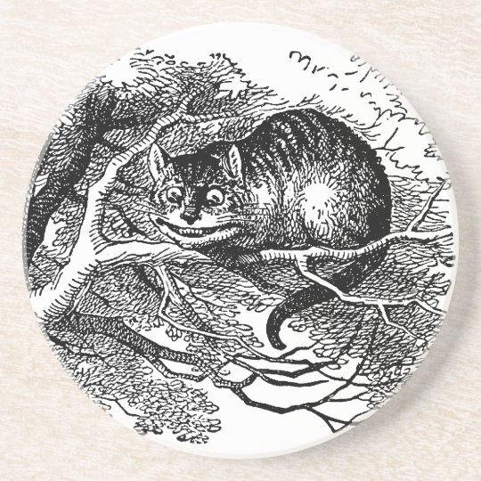 Vintage Alice in Wonderland, Cheshire Cat Coaster