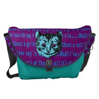 Vintage Alice in Wonderland Cheshire Cat Courier Bag