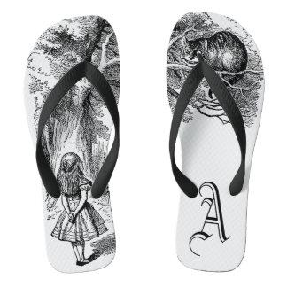 Vintage Alice in Wonderland, Cheshire Cat Flip Flops