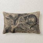 Vintage Alice in Wonderland, Cheshire Cat Lumbar Pillow