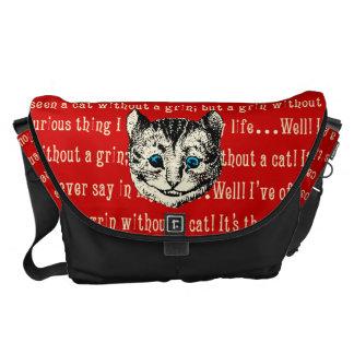 Vintage Alice in Wonderland Cheshire Cat Messenger Bag