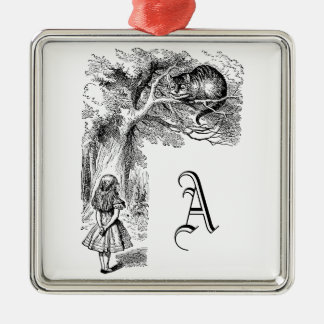 Vintage Alice in Wonderland, Cheshire Cat Metal Ornament