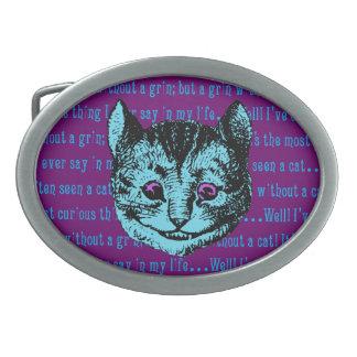 Vintage Alice in Wonderland Cheshire Cat Oval Belt Buckle
