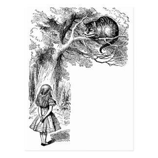 Vintage Alice in Wonderland, Cheshire Cat Post Card
