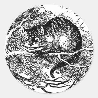 Vintage Alice in Wonderland, Cheshire Cat Classic Round Sticker