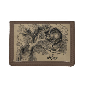 Vintage Alice in Wonderland, Cheshire Cat Trifold Wallet