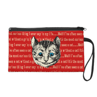Vintage Alice in Wonderland Cheshire Cat Wristlet