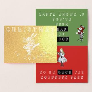 Vintage Alice in Wonderland Christmas Card