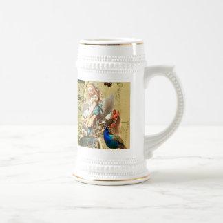 Vintage Alice in Wonderland collage Beer Stein
