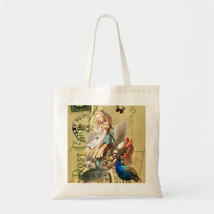 Vintage Alice in Wonderland collage Tote Bag