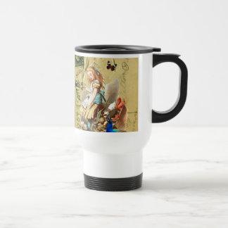 Vintage Alice in Wonderland collage Travel Mug