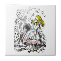Vintage Alice in Wonderland Deck of Cards Tile