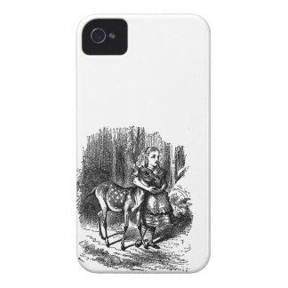 Vintage Alice in Wonderland deer fawn bambi print iPhone 4 Cases