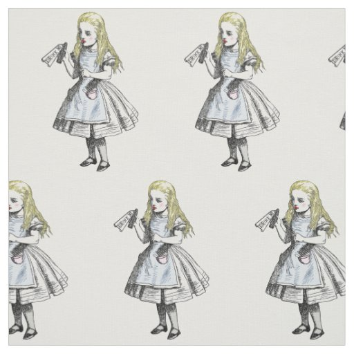 Vintage Alice In Wonderland Fabric 14