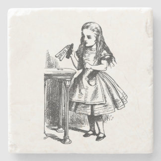 Vintage Alice in Wonderland Drink Me Stone Coaster
