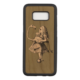 Vintage Alice in Wonderland Flamingo Carved Samsung Galaxy S8 Case
