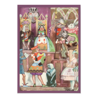 Vintage Alice in Wonderland Girl Birthday Party 5x7 Paper Invitation Card