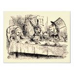 Vintage Alice in Wonderland Girl Birthday Party Custom Invite