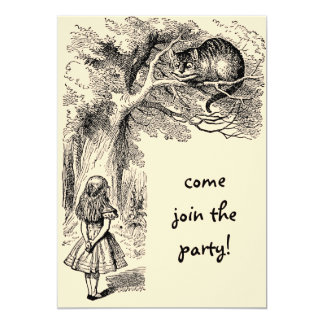 Vintage Alice in Wonderland, Girl Birthday Party Personalized Announcement